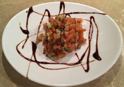 салат тартар с семгой