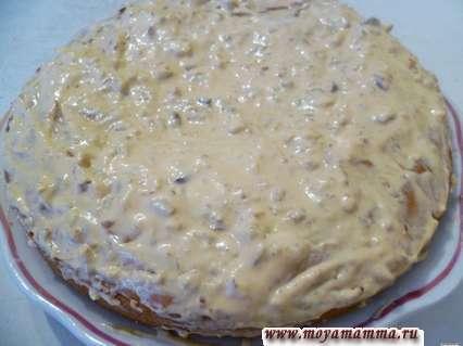 пирог из рисовой муки со сметанным кремом сверху