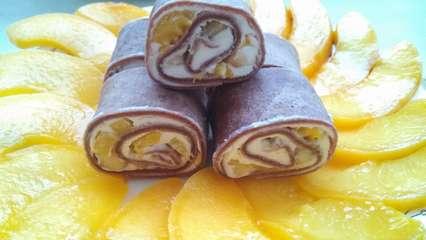 Сладкие роллы с фруктами