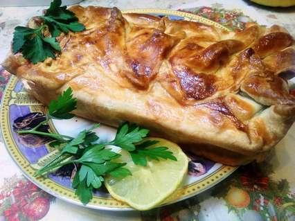 пирог с тунцом и зеленью