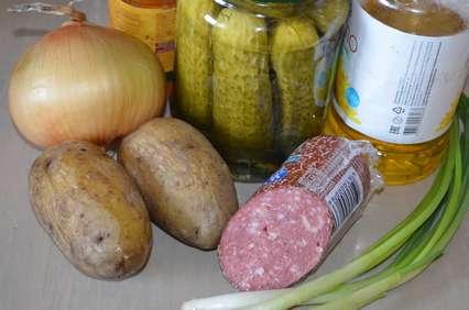 ингредиенты для картофельного немецкого салата
