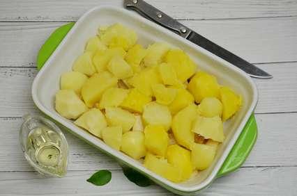 теплый картофель кусками