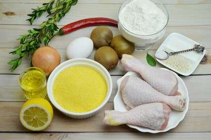 Продукты для приготовления голеней в кляре