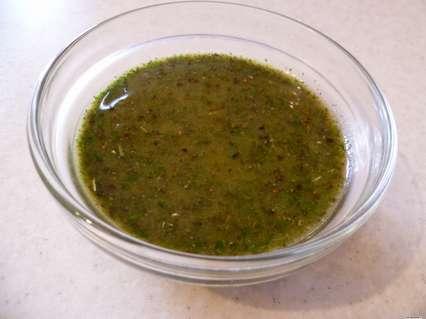 зеленый соус с базиликом