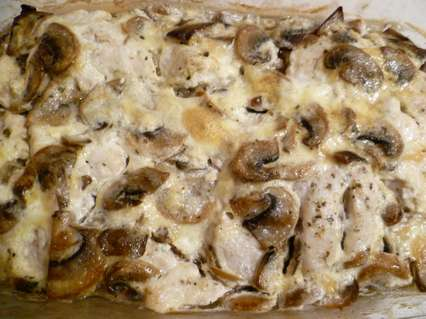 рецепт запеченного филе курицы с шампиньонами