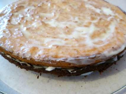 творожно шоколадный пирог со сметанным кремом