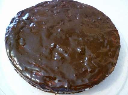 Творожно шоколадный пирог в шоколадной глазури
