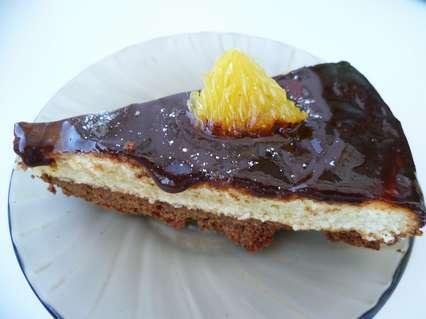 творожно шоколадный пирог с глазурью