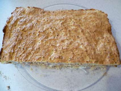 пирог с миндальным кремом на сметане
