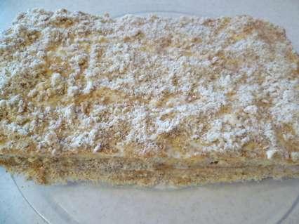творожный пирог с миндальным кремом