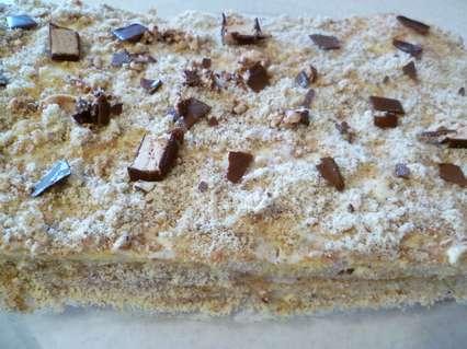 творожный пирог с миндальным кремом в духовке