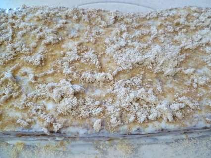 Пирог из миндальной муки с творогом
