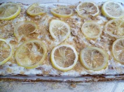 оформление лимонами творожного пирога