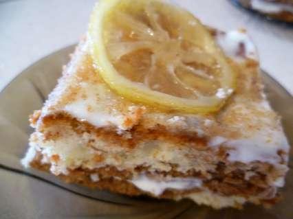 лимонный творожный пирог