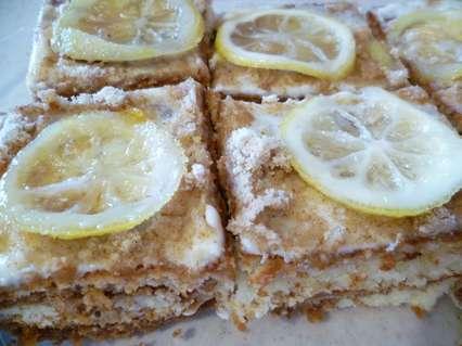 Лимонный творожный пирог с какао