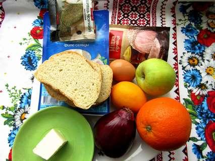 ингредиенты для закуски из селедки