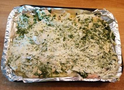 курица со шпинатом и сыром