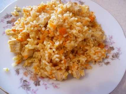 рассыпчатый вкуссный рис с куриным филе