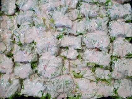 голубцы из листьев салата с куриным фаршем в духовке
