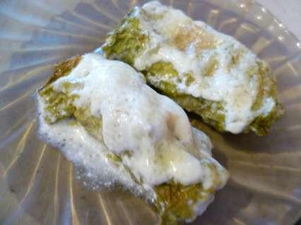треска запеченная в листьях салата в духовке