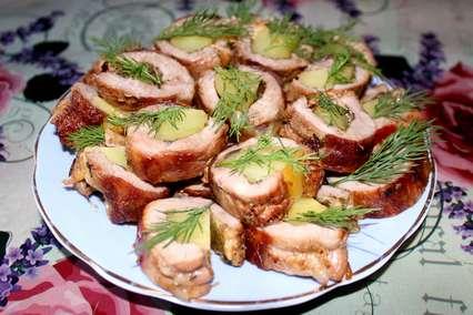 мясные рулетики пальчики с картофелем и сыром