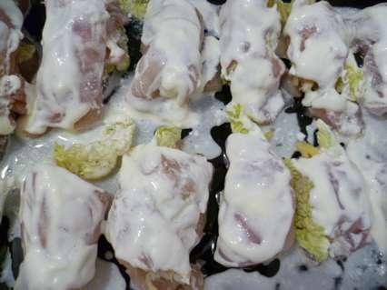 рулетики из курицы с пекинской капустой
