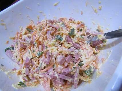салат с сыром и корейской морковью