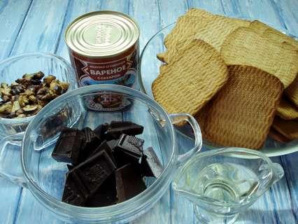 Ингредиенты для пирожного без выпечки