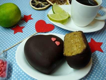 Пирожное без выпечки «Шоколадные сердечки»