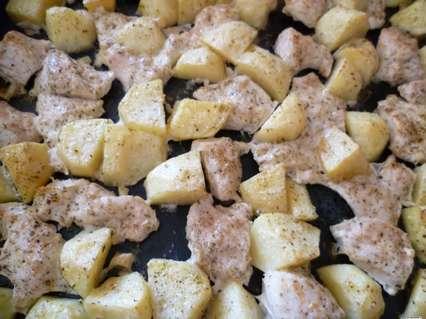 жаркое из курицы с картофелем