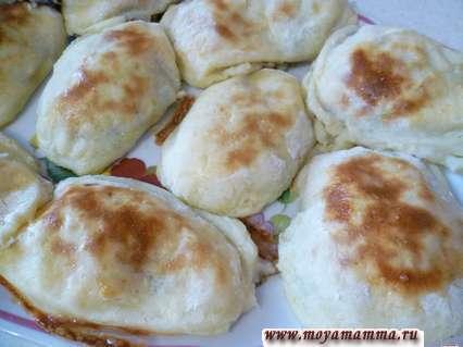 пирожки из картофельного пюре с грибами