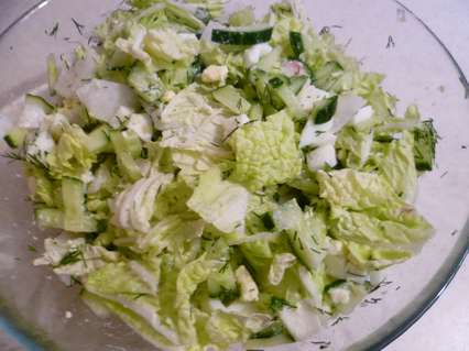 Рецепт салата из редиски с яйцом и огурцом