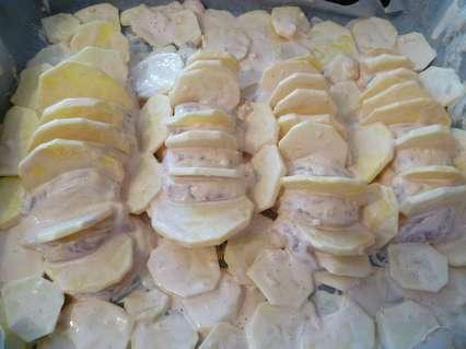 Выкладывание оставшейся картошки