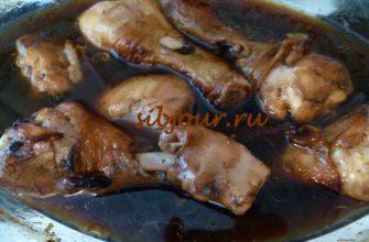 куриные голени в медово - соевом соусе