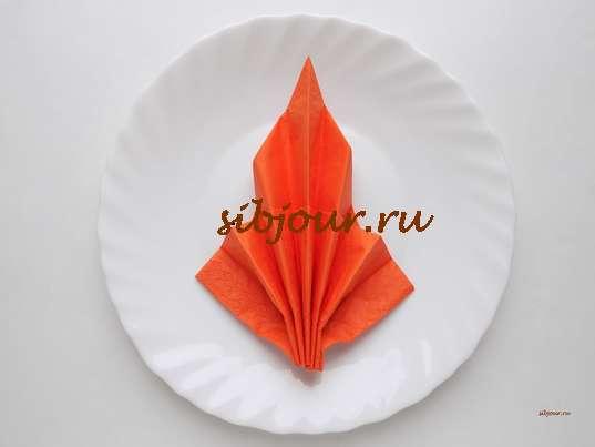 salfetka-slozhennaya-veerom
