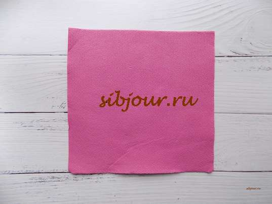 Бумажная салфетка 33х33 см