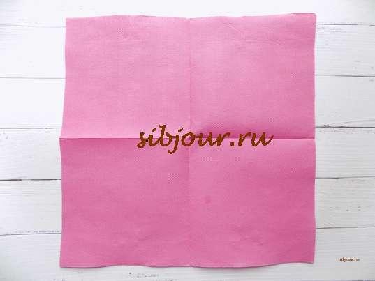 Разворачивание бумажной салфетки