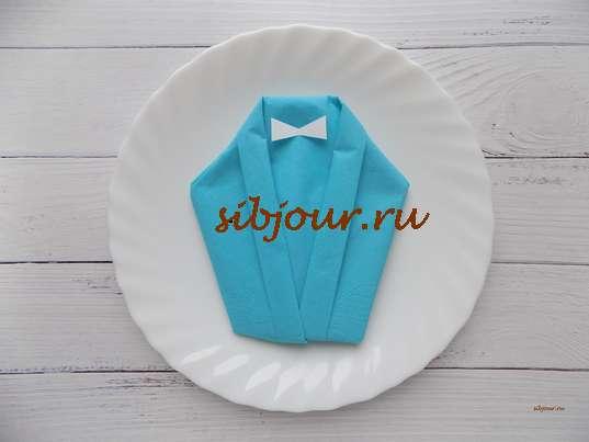 сервировочная салфетка в виде жакета