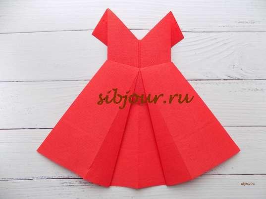 платье из салфетки